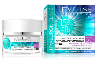 EVELINE COSMETICS HYALURON CLINIC MULTINOURISHING REDUCING WRINKLES FACE CREAM ANTIAGES 60+