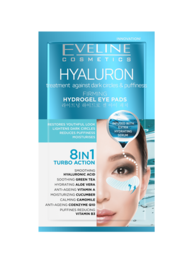 EVELINE COSMETICS HYALURON DARK CIRCLES & PUFFINES HYDROGEL EYE PADS