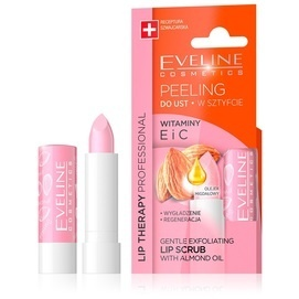 EVELINE COSMETICS LIP THERAPY GENTLE EXFOLIATING LIP SCRUB LIPSTICK BALM WITH ALMON OIL