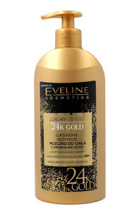 EVELINE COSMETICS LUXURY EXPERT 24K GOLD LUXURY CAVIAR NOURHISIHING BODY MILK WITH SPARKLY PARTICLES