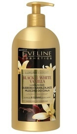 EVELINE COSMETICS LUXURY EXPERT BLACK & WHITE VANILLA DEEPLY MOISTURIZING BODY MILK