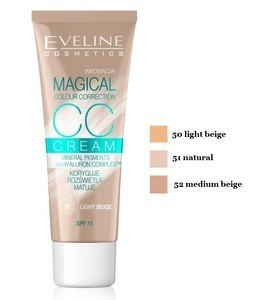 EVELINE COSMETICS MAGICAL CC CREAM FOUNDATION CORRECTS ILLUMINATES MATTS