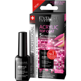 EVELINE COSMETICS NAIL THERAPY ACRYLIC TOP COAT GEL EXTENDS NAIL POLISH