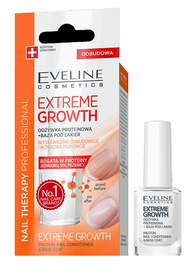 EVELINE COSMETICS NAIL THERAPY EXTREME GROWTH PROTEIN NAIL CONDITIONER & BASE COAT