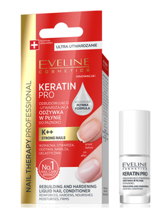 EVELINE COSMETICS NAIL THERAPY PRO KERATIN REBUILDING & HARDENING LIQUID NAIL CONDITIONER