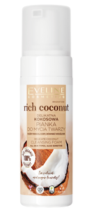EVELINE COSMETICS RICH COCONUT DELICATE COCONUT CLEANSING FOAM FOR FACE AND NECK