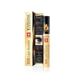 EVELINE COSMETICS SOS LASH BOOSTER MULTI PURPOSE EYELASH SERUM WITH ARGAN OIL 5IN1