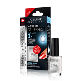 EVELINE COSMETICS X-TREME GEL EFFECT TOP COAT LIQUID GLASS