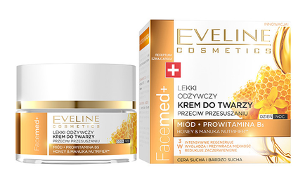 EVELINE FACEMED+ LIGHT NOURISHING ANI-OVERDRYING FACE CREAM WITH HONEY & B5