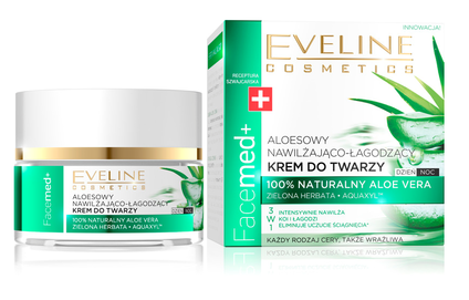 EVELINE FACEMED+ MOISTURIZING - SOOTHING FACE CREAM WITH 100% NATURAL ALOES