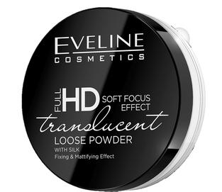 EVELINE FULL HD SOFT FOCUS EFFECT TRANSLUCENT WHITE LOOSE POWDER WITH SILK MATT