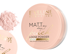 EVELINE MATT MY DAY PEACH LOOSE POWDER SILKY SMOOTH & MATTIFYING