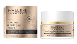 EVELINE ORGANIC GOLD SOOTHING & MATTIFYING FACE CREAM WITH GREEN TEA