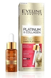 EVELINE PLATINUM & COLLAGEN REJUVENATING TREATMENT FACE CONCENTRATE SERUM WRINKLES REDUCTION