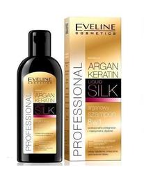 EVELINE PROFFESIONAL ARGAN KERATIN & SILK HAIR SHAMPOO 8in1 FOR DEMAGED HAIR