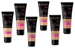 EVELINE SELFIE TIME 2in1 COVER & MOISTURIZING FOUNDATION & CONCEALER VEGAN FRIENDLY