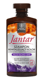 FARMONA JANTAR REVITALIZING HAIR COLOUR SILVER SHAMPOO AMBER & PIGMENT FOR BLOND & GREY
