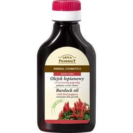 GREEN PHARMACY HERBAL COSMETICS BURDOCK OIL WITH RED PEPPERS STIMULATES HAIR GROWTH