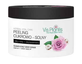 GREEN PHARMACY VIS PLANTIS SUGAR & SALT BODY PEELING SCRUB ROSE & COTTON OIL
