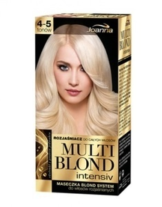 JOANNA MULTI BLOND INTENSIV WHOLE HAIR LIGHTENER 4-5 TONES + MASK