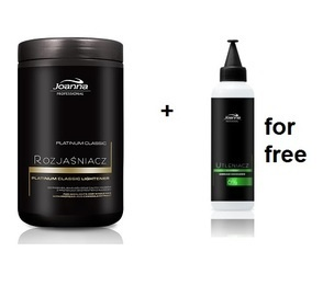 JOANNA PROFESSIONAL PLATINUM CLASSIC HAIR LIGHTENER + 6% CREAM OXIDIZER FOR FREE