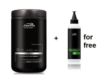 JOANNA PROFESSIONAL PLATINUM  HAIR LIGHTENER + 6% CREAM OXIDIZER FOR FREE