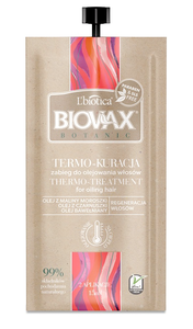 L`BIOTICA LBIOTICA BIOVAX BOTANIC THERMO OILING HAIR TREATMENT REGENERATION CONDITIONER 15ml
