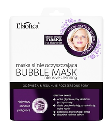 L`BIOTICA LBIOTICA BUBBLE CLOTH FACE MASK DEEPLY CLEANSING