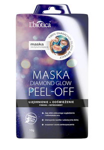 L`BIOTICA LBIOTICA CLEANSING FACE MASK DIAMOND GLOW PEEL-OFF FRIMING + REFRESHMENT PARABEN SLS FREE