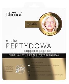 L`BIOTICA LBIOTICA COPPER TRIPEPTIDE CLOTH FACE MASK ANTI-AGEING PREVENTION