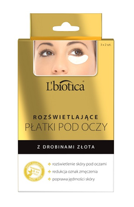 L`BIOTICA LBIOTICA ILLUMINATING UNDER EYE PATCHES DARK WITH GOLD PARTCLES