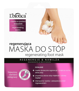 L`BIOTICA LBIOTICA REGENERATING FOOT MASK IN SOCKS