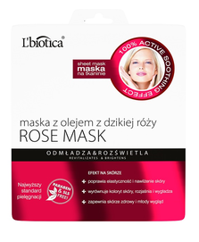 L`BIOTICA LBIOTICA ROSE CLOTH FACE MASK REJUVENGES & ILLUMINATES