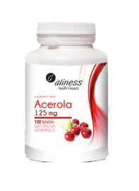 MEDICALINE ALINESS ACEROLA 125mg with NATURAL VITAMIN C DIET SUPPLEMENT 120 TABLETS