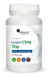 MEDICALINE ALINESS COPPER 2.5 mg TRIO 100 TABLETS DIET SUPPLEMENT