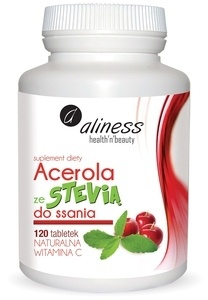 MEDICALINE ALINESS DIET SUPPLEMENT ACEROLA WITH STEVIA AND VITAMIN C LOZENGES 120pcs