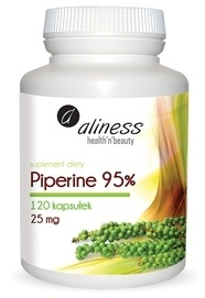 MEDICALINE ALINESS DIET SUPPLEMENT PIPERINE BLACK PEPPER 120 TABLETS