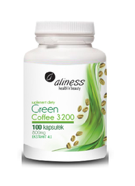 MEDICALINE ALINESS GREEN COFFEE 3200 DIET SUPPLEMENT 100 TABLETS