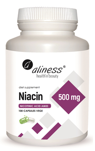 MEDICALINE ALINESS NIACIN 500mg 100 CAPSULES VEGE DIET SUPPLEMENT