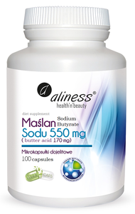 MEDICALINE ALINESS SODIUM BUTYRATE BUTTER ACID 100 CAPSULES VEGE