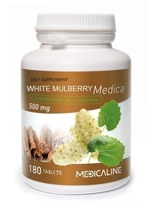 MEDICALINE WHITE MULBERRY MEDICA 500mg 180 TABLETS DIET SUPPLEMENT