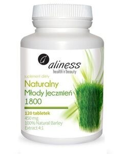 MEDICALINES ALINESS 100% NATURAL GREEN BARLEY GRASS 120 TABLETS 1800mg