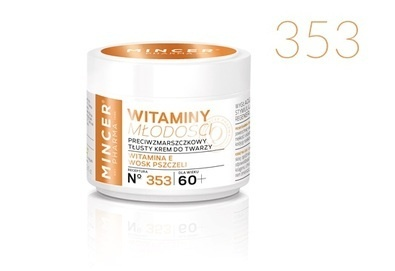 MINCER PHARMA VITAMINS OF YOUTH RICH FACE CREAM ANTI-WRINKLE 60+ NO. 353