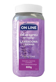 ON LINE RELAXING BATH SALT LAVENDER & CHAMOMILE EXTRACT 800g