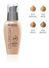 REVERS COSMETICS COLORS DAY MINERAL MAKE-UP FOUNDATION NATURAL GLOW