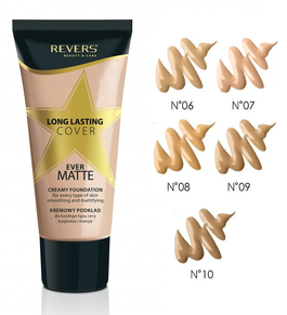 REVERS COSMETICS LONG LASTING COVER EVER MATTE CREAMY FOUNDATION MAKE-UP SMOOTHING & MATTIFYING
