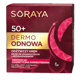 SORAYA DERMO RENEW NOURISHING FACE CREAM ANTI WRINKLES & DISCOLORATIONS 50+ NIGHT