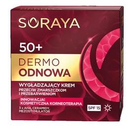 SORAYA DERMO RENEW SMOOTHING FACE CREAM ANTI WRINKLES & DISCOLORATIONS 50+ SPF15 DAY