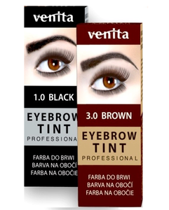 VENITA TINT HENNA BLACK OR BROWN COLOUR  FOR EYEBROWS BLACK BROWN  PROFESSIONAL