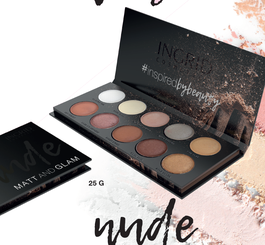 VERONA INGRID EYE SHADOW PALETTE NUDE 10 IN 1 MATT & GLAM